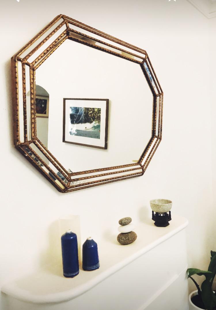 Art-Deco-Gold-Mirror-Fireplace-Coastal-living-room